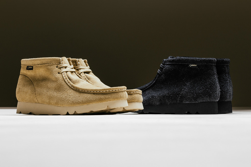 size 40 51331 2478e ... BEAMS Dresses Clarks Wallabee Boots in GORE-TEX  Octobers Very Own OVO  x Clarks Desert Boot Black UK10 Clarks Originals .