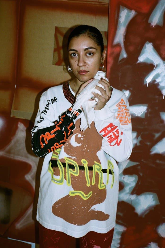 Come Tees Denim Capsule Collection Lookbook Release Sonya Sombreuil Work Jacket Pants