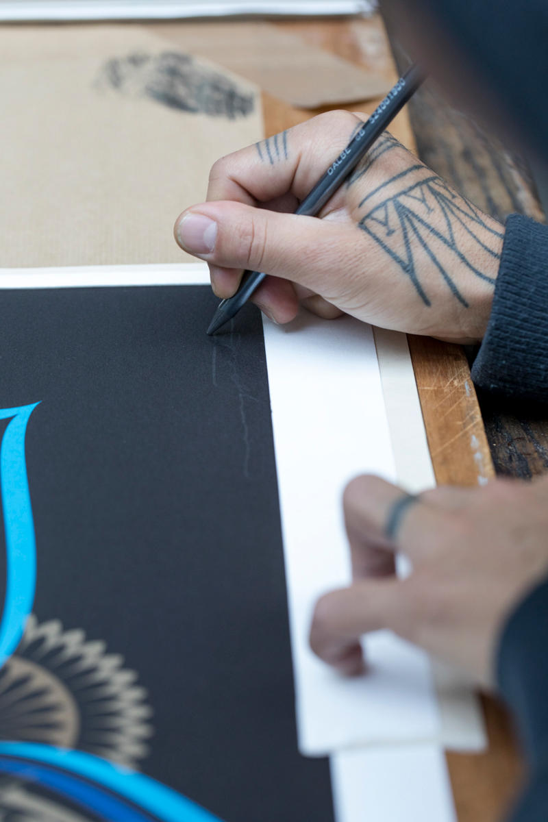 Cryptik x Print Them All Releases New Lithographs blue gold lotus