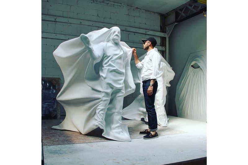 daniel arsham hollow figure sculptural edition artwork release