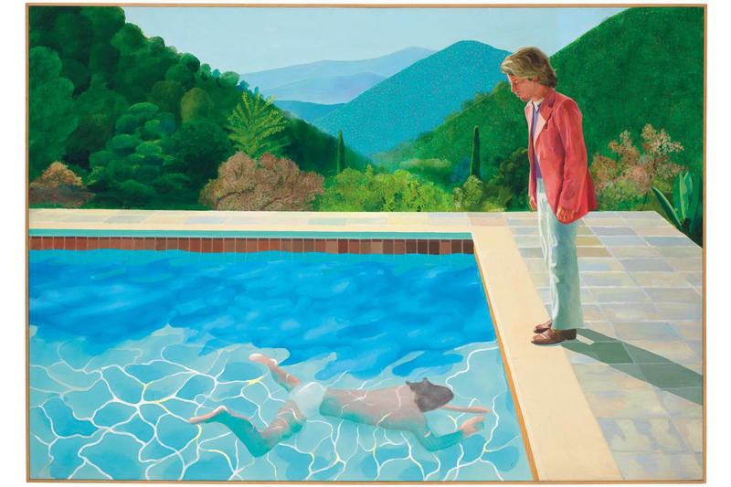 david hockney pool painting auction record christies paintings artworks auctions