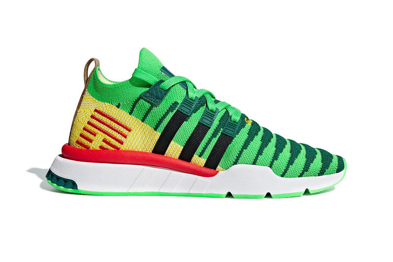 Dragon Ball Z adidas EQT Support ADV Primeknit Shenron red green yellow  brown dragon 3ac659172