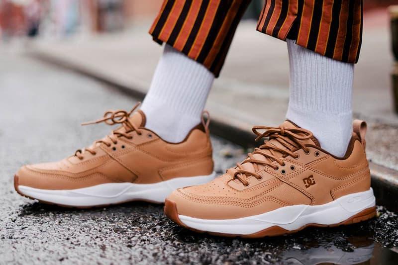 DC Shoes E.Tribeka Vachetta Leather Release info Date Skate skateboarding sneaker footwear