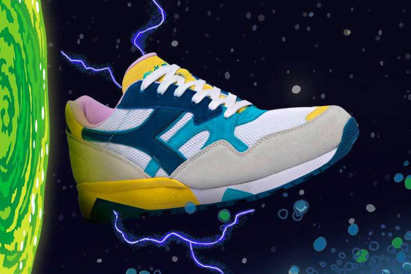 Diadora Rick and Morty Collaboration Release N902 B.Elite info Date Foot Locker Footaction