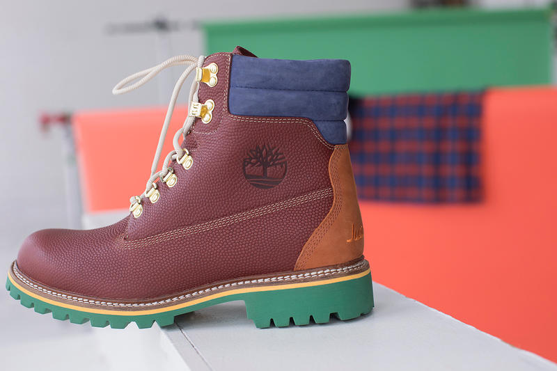 "Just Don C Timberland Premium 6"" Boot Collaboration collection inch Drop release date info november 17 2018 denim nubuck burgundy 640 below just"