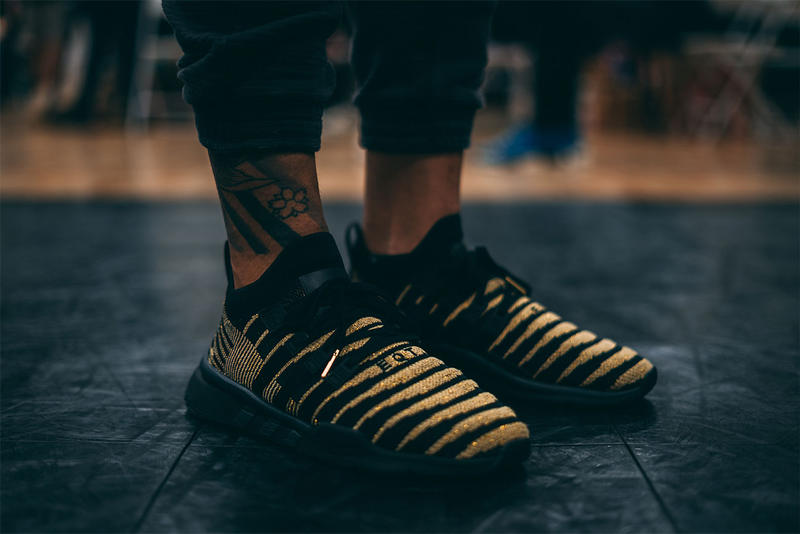 Dragon Ball Z x adidas EQT Support ADV Primeknit Super Shenron On foot black gold originals