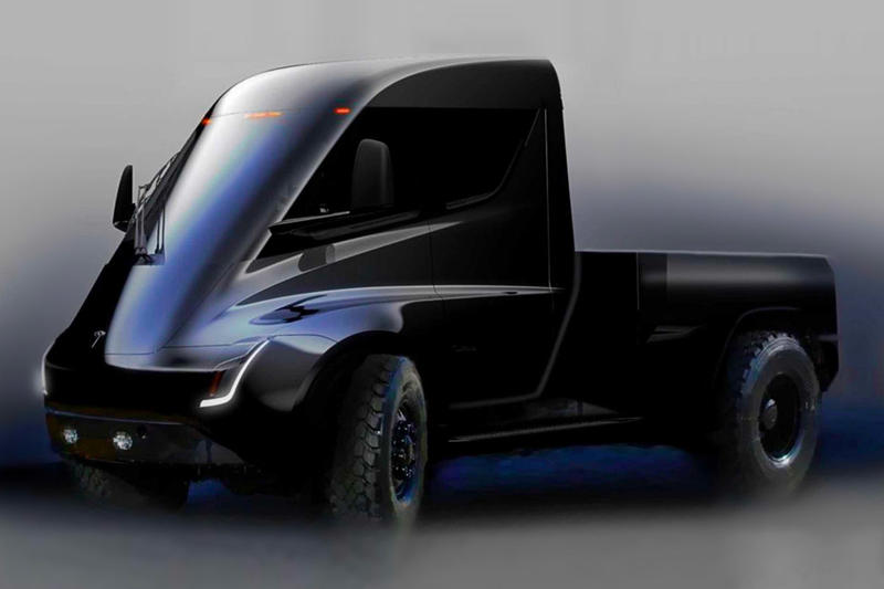 Elon Musk tesla pickup truck teaser info details release date futuristic-like cyberpunk, 'Blade Runner' all-electric