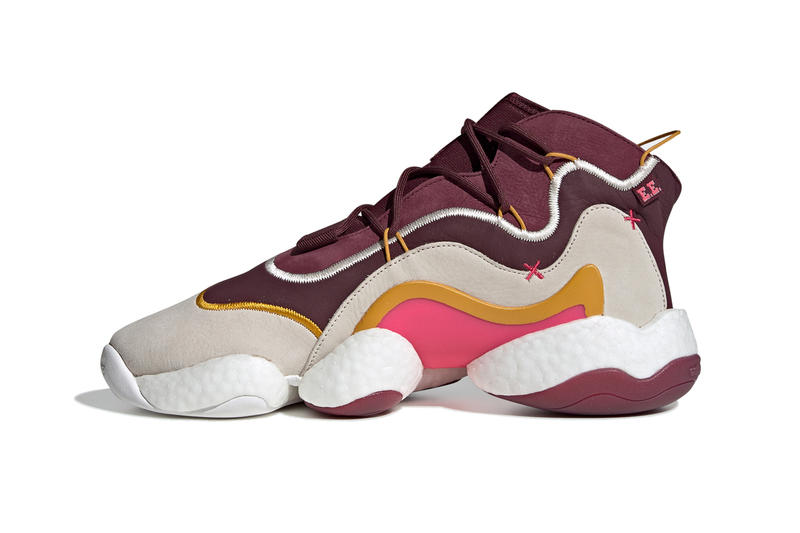 Eric Emanuel adidas Originals Crazy BYW sneakers shoes release date Maroon Cream White Real Pink BD7242