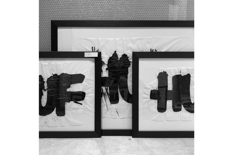 Eric Haze 360 Exhibition 16 Shibuya Stars Arrows Black White Painting HUF
