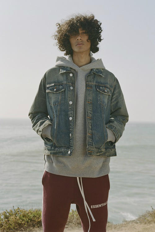 FEAR OF GOD ESSENTIALS CALIFORNIA WINTER 2019 collection CAMPAIGN fw18 fall winter 2018 converse chuck taylor capsule t shirt denim jean jacket grey gray hoodie sweatshirt sweatpants black tees shaniqwa jarvis jerry lorenzo