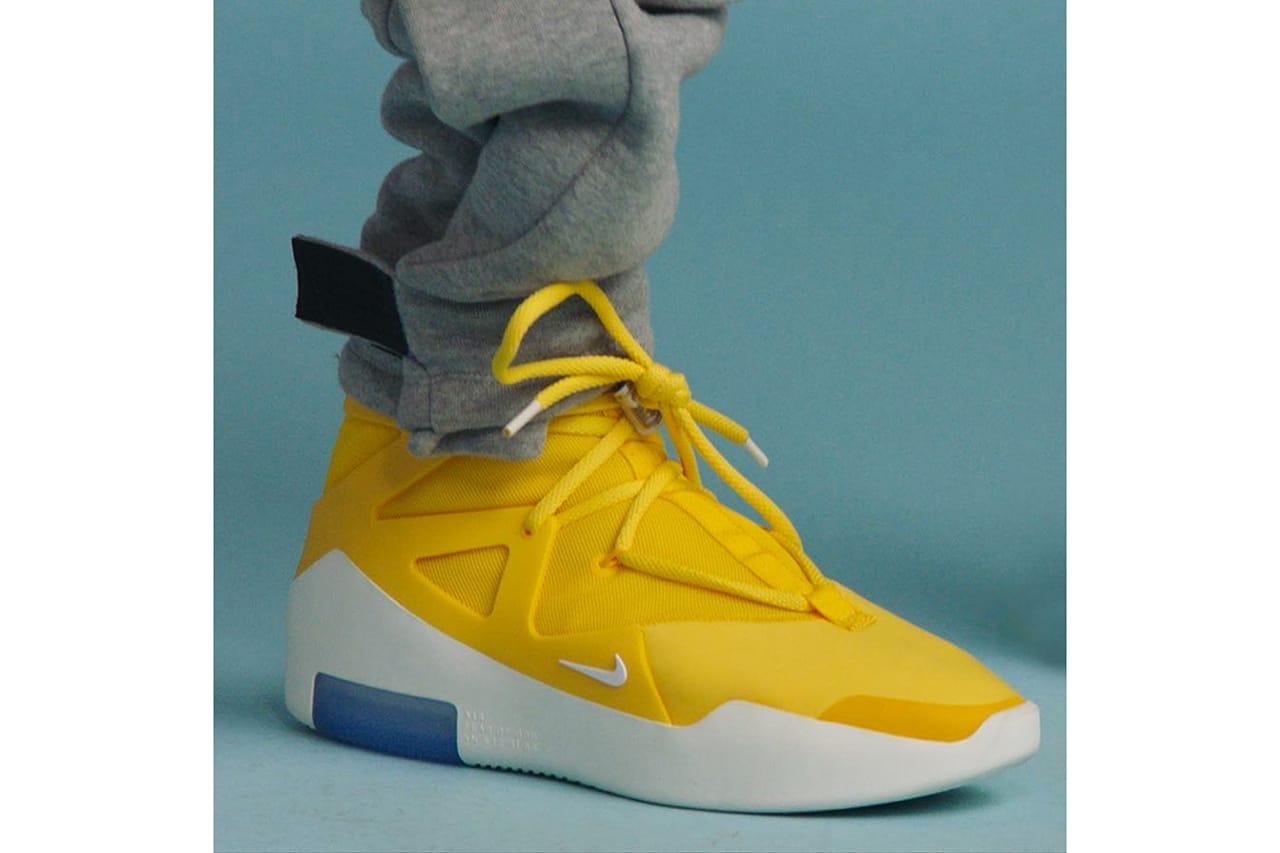 Fear of God x Nike Yellow Sneakers