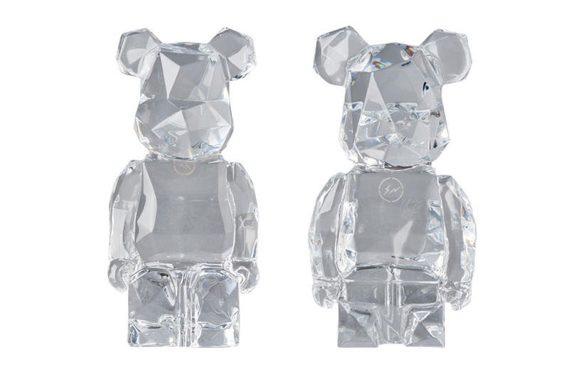 fragment design hiroshi fujiwara bearbrick medicom toy baccarat collaboration figure toy figure 100 400 172,800 1500 usd price release date info november 23 2018 crystal hand blown made