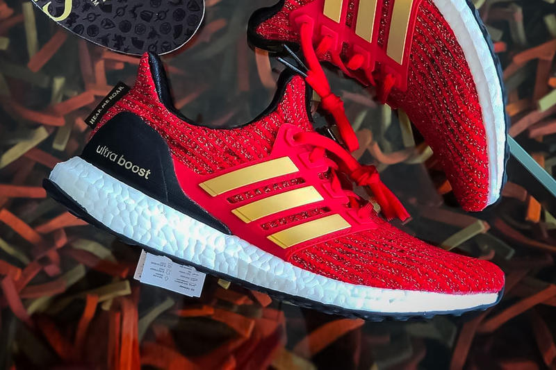 aae037838 Game Of Thrones adidas UltraBOOST Lannister red sneaker hbo 2019 First Look  GoT