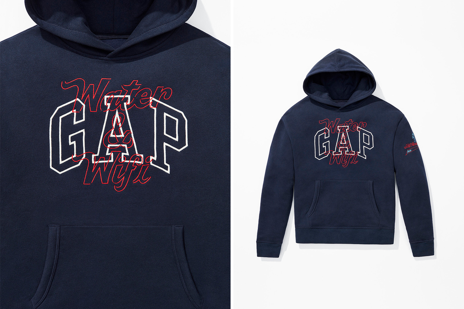 Gap GQ The Coolest Designers on the Planet 2018 Gallery No Vacancy Inn Balmain MSGM Dsquared Opening Ceremony logo sweatshirt hoodie