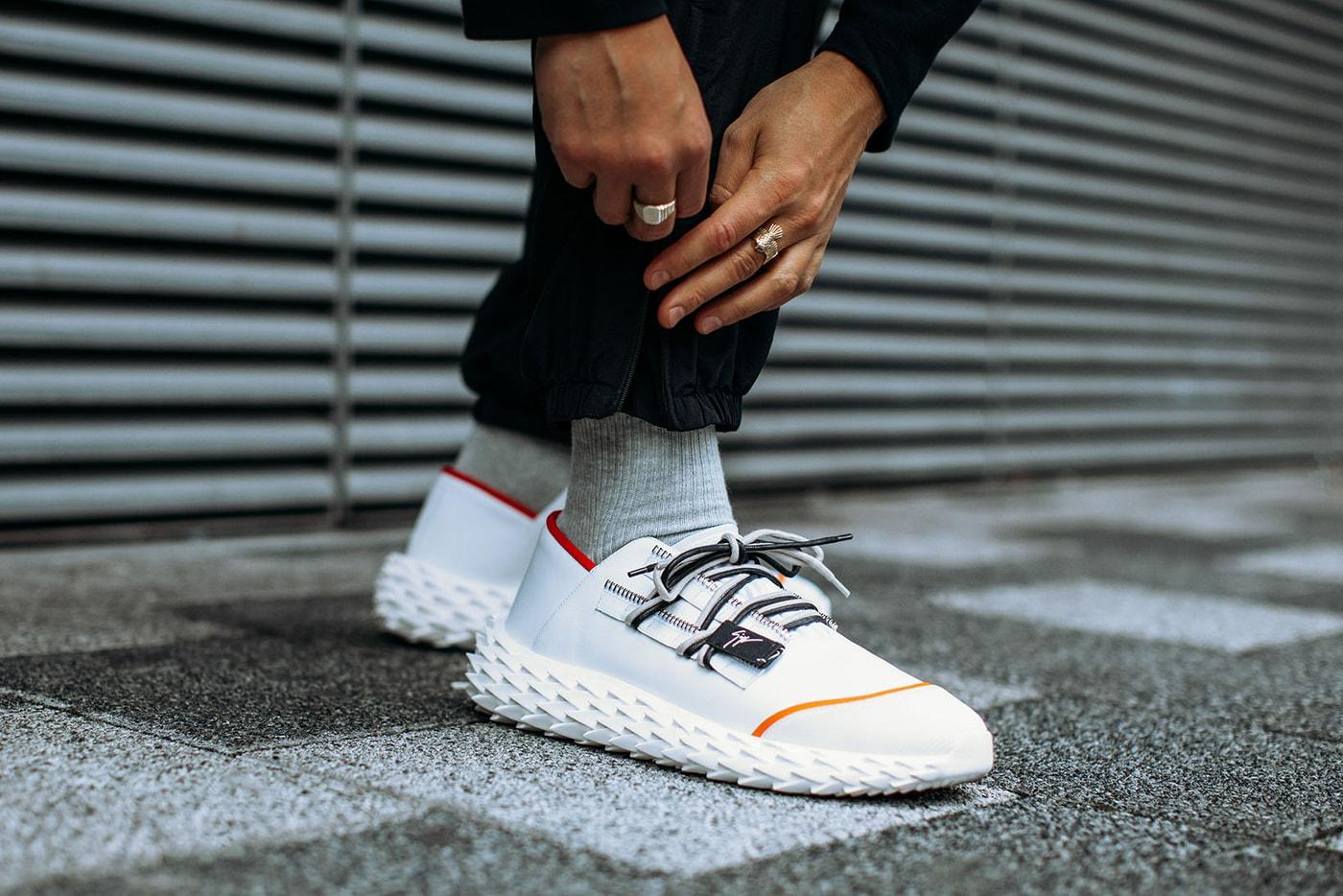 Giuseppe Zanotti Urchin Sneaker Release 2018 Black White ... b24d71f11