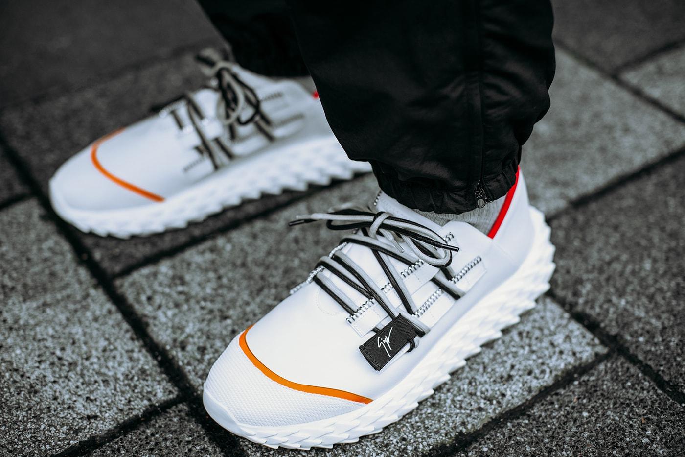 ... Giuseppe Zanotti Urchin Sneaker Release 2018 Black White 7169bd67f