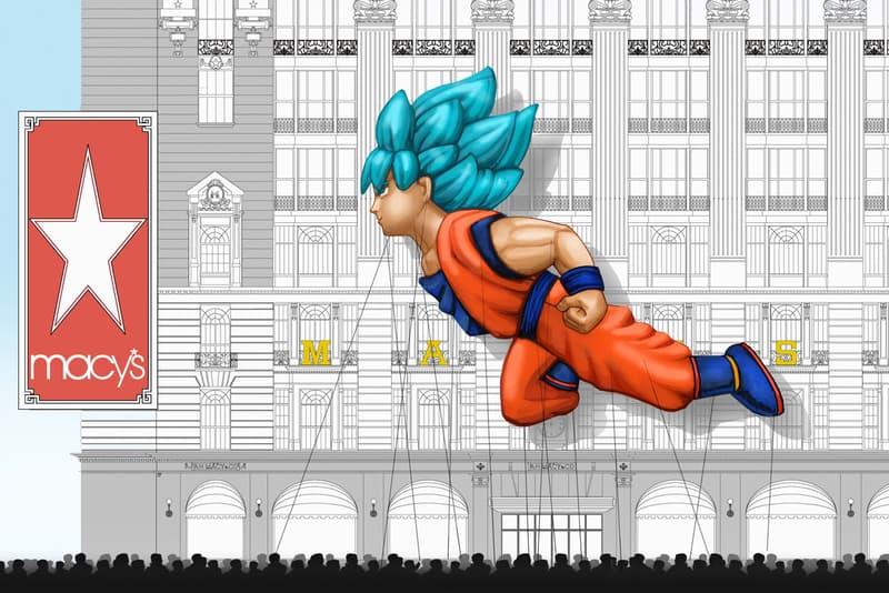 Goku 2018 Macy's Thanksgiving Day Parade Float Dragon Ball Z Super Broly super Saiyan