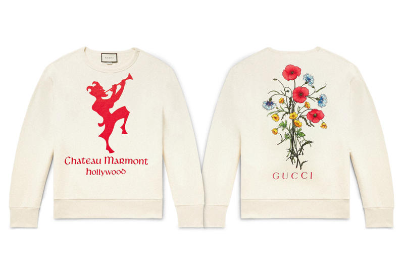 103f2c798d87 Gucci Chateau Marmont Loopback Sweatshirt printed italy guccy knits tops  jumpers winter fashion luxury crewneck made