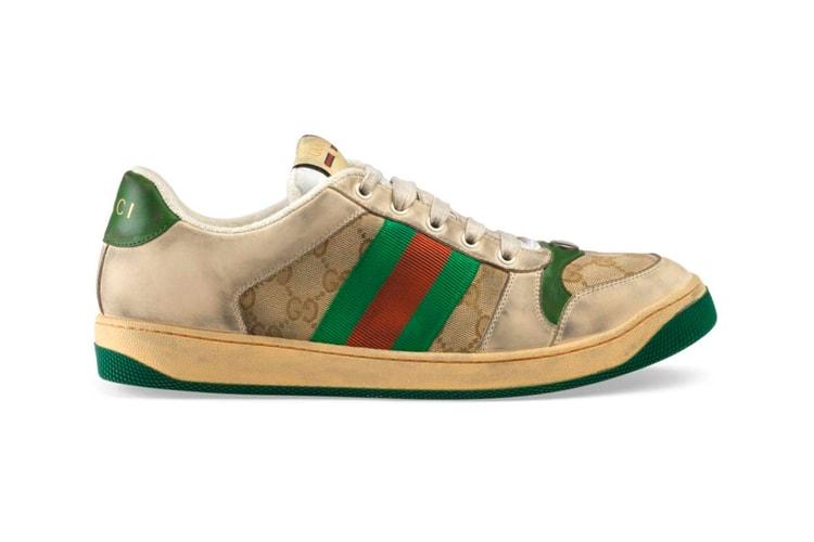 b00da9a50f7ee Gucci s New Vintage Sportswear-Inspired Dirty Sneakers Cost  870 USD.  Footwear