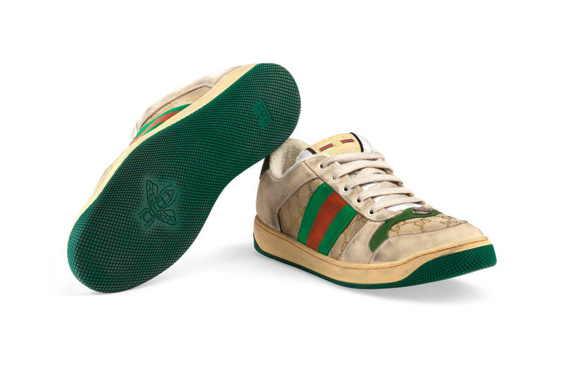 ed575749a Gucci Mens Distressed GG Canvas Sneakers leather price Red Green Monogram  Blue Orange Info Release Date