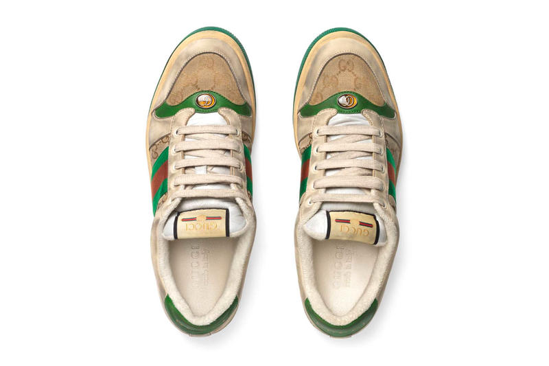 a1091fc5b7b Gucci Mens Distressed GG Canvas Sneakers leather price Red Green Monogram  Blue Orange Info Release Date