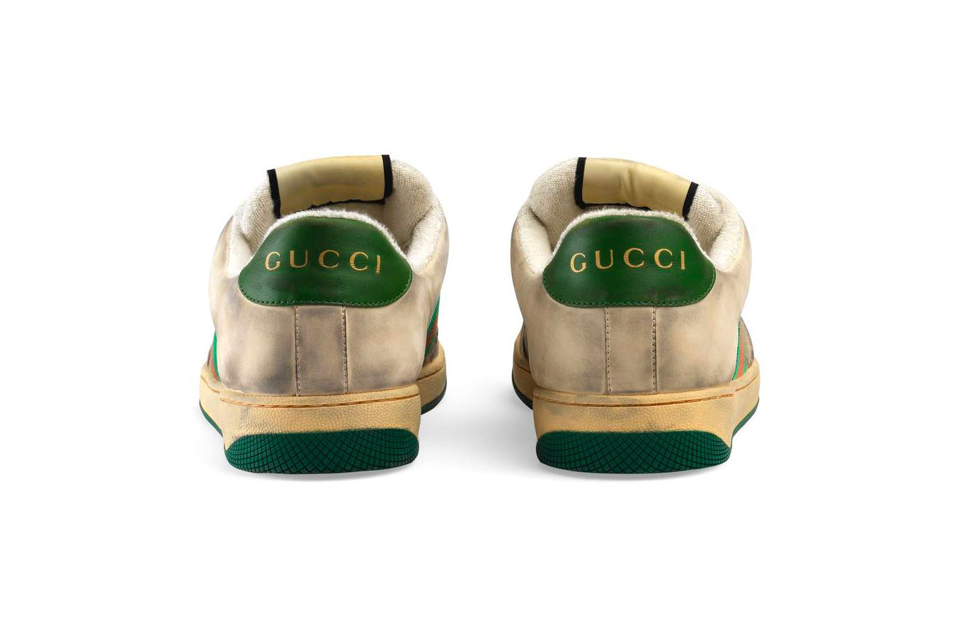 gucci leather and canvas sneaker