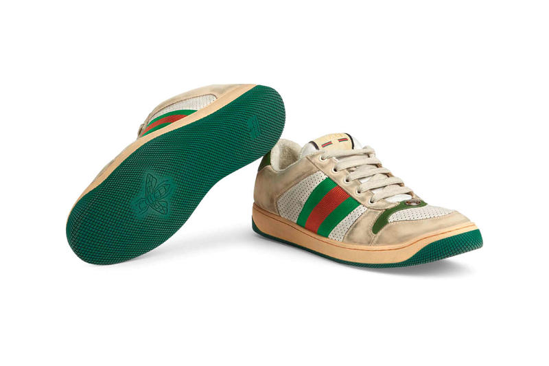 Gucci Mens Distressed GG Canvas Sneakers leather price Red Green Monogram Blue Orange Info Release Date
