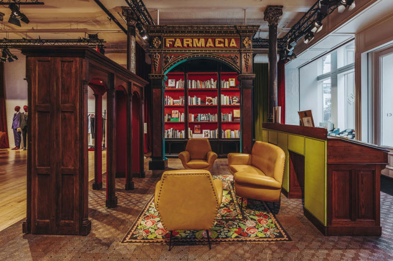 Gucci Wooster Bookstore tour images shop location address design interior opening hours new york city alessandro michele