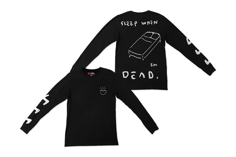 0f57d6da7b3 Gucci Ghost Real Buy Debut Release Trevor Trouble Andrew Long Sleeve Short  T shirt White black