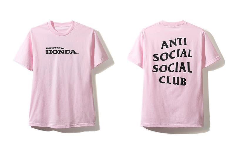 Anti Social Social Club honda collaboration type r hat hoodie tee shirt november 3 2018 drop release date info