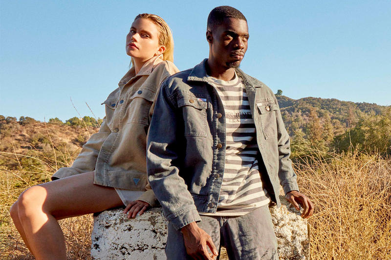Infinite Archives GUESS FW18 Capsule Collection Lookbook worker jackets pants denim canvas corduroy t shirt stripes Sheck Wes RAYSCORRUPTEDMIND