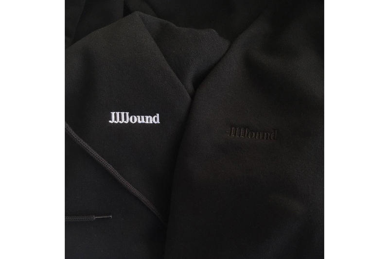 JJJJound Logo Hoodie White/Black
