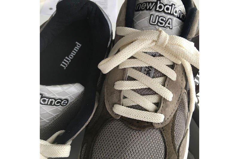 JJJJound x New Balance FW18 Collab First Look  justin saunders sneaker collaboration release date suede