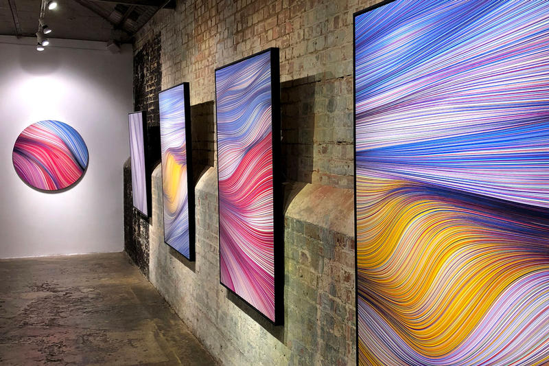 kai sunny shifting times exhibition stolenspace gallery artworks paintings