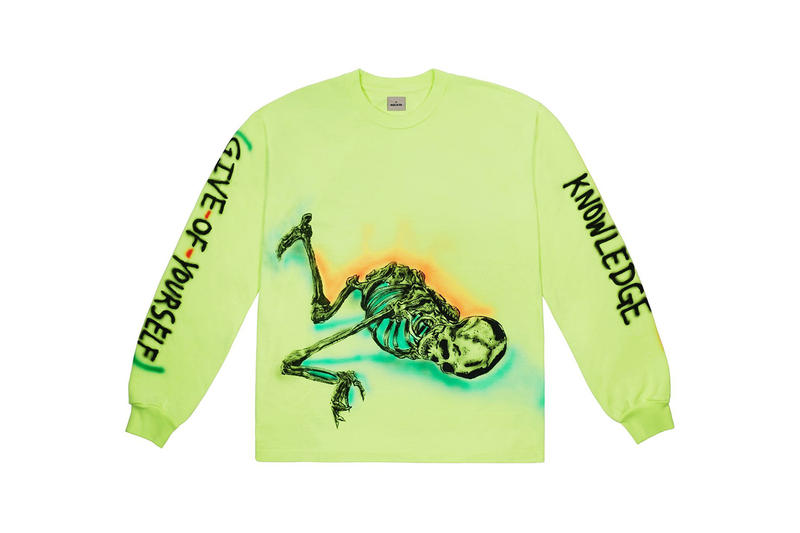 Kanye West Merchandise Wes Lang Capsule Collection Wyoming Jacksons Hole Ye Merch Longsleeve T-shirt Vapor Frozen Yellow