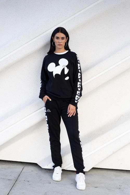 disney kappa fall winter 2018 fw18 collection collab collaboration mickey mouse anniversary sweats pants hoodies sweatshirt black white tracksuit grey gray 90 year