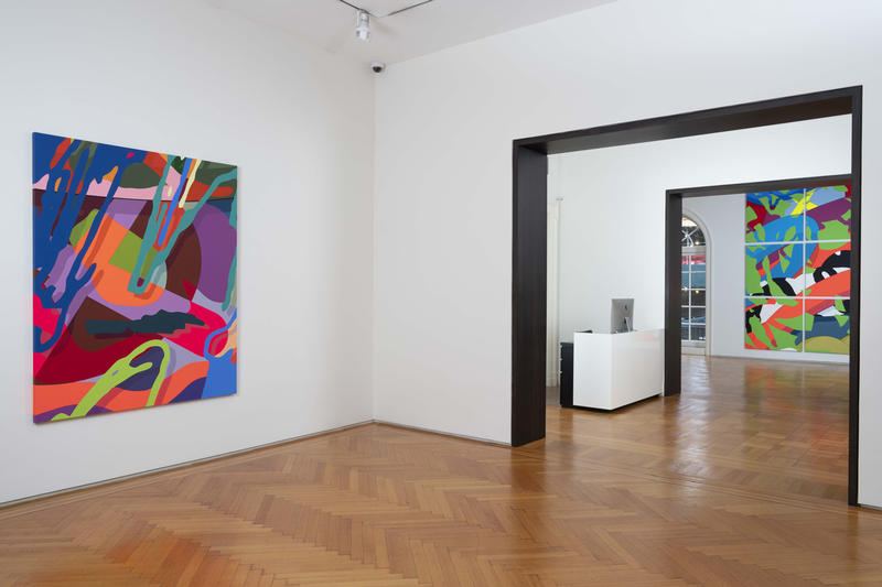 kaws gone exhibition skarstedt gallery recap artworks art artist sculptures installations paintings