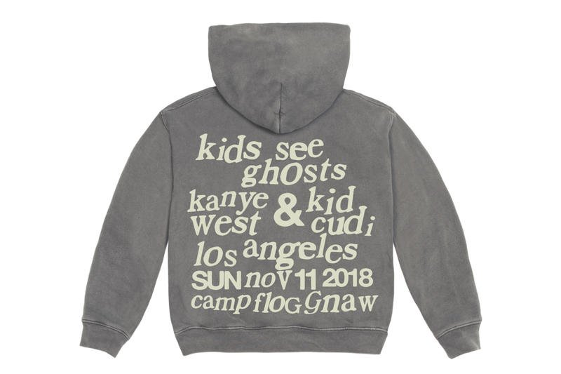 Kids See Ghosts Camp Flog Gnaw 2018 Merch Release Info Kid Cudi Kanye West Hoodie T shirt Long short sleeve crewneck sweater