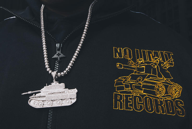 Master P LRG x No Limit Records Collaboration mr ice cream man album cover tanks tank soliders army diamond gold