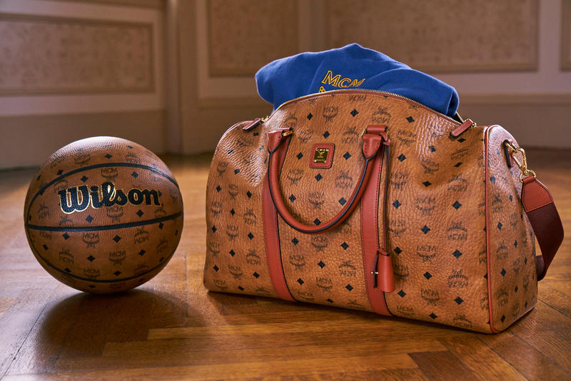 Nordstrom x MCM POP-IN Wilson basketballs football Everlast boxing gloves punching bags monogram cognac visetos slick rick champion