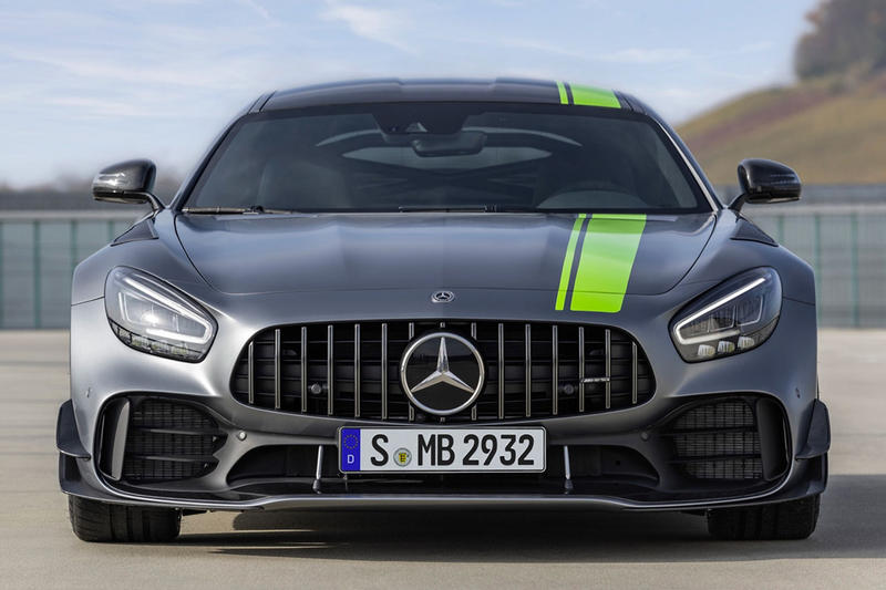 Mercedes Benz AMG GT R Pro Unveil Grey Green 2018 LA Auto Show GT Coupe Roadster