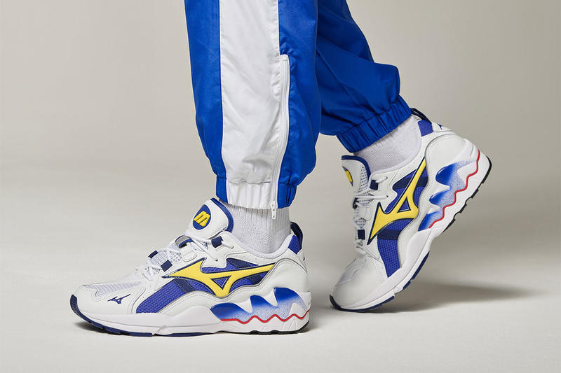 576f388288de Mizuno Wave Rider 1 OG royal blue safety yellow Colorway Release Date info  price sneaker retailers
