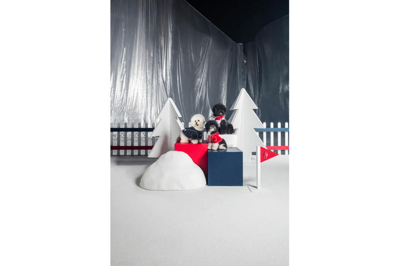 Moncler x Poldo Dog Couture FW18 Collection lookbook christmas