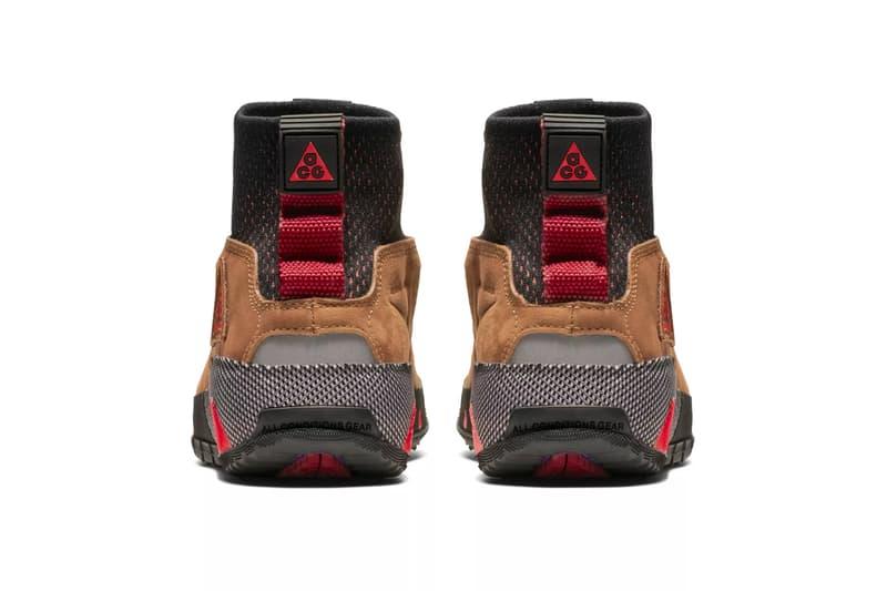 "Nike ACG Ruckel Ridge ""British Tan"" Release Date info price boot tan colorway habanero red sneaker"