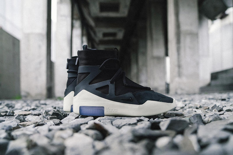 Nike Air Fear of God 1 Sneakers Closer Look Jerry Lorenzo Shoes Trainers Kicks Footwear Cop Purchase Buy Release Date Details Soon