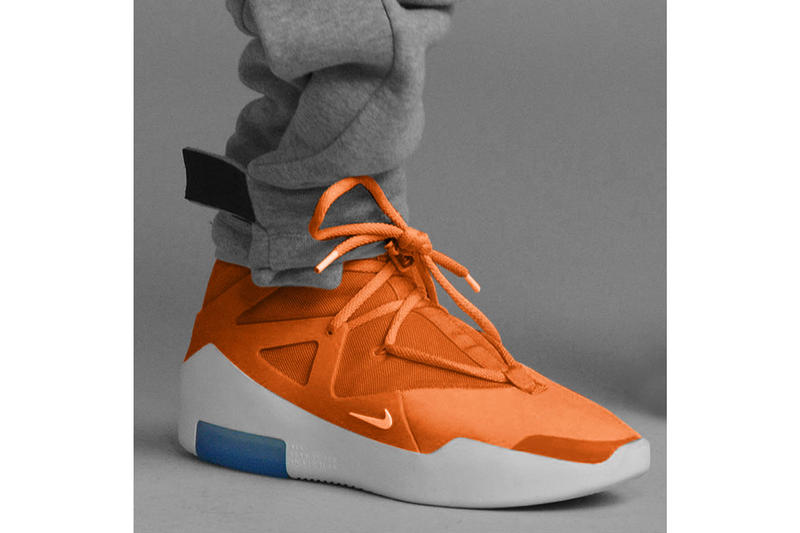 b1098e8ba51 Nike Air Fear of God 1 SS19 Colorways Reveal Orange Pulse Sail Black  Frosted Spruce Jerry