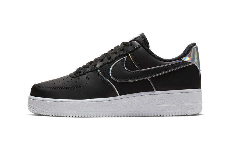 new arrival d6e79 62ad1 Nike Air Force 1  07 LV8 Black Iridescent Silver release date info price  sneaker