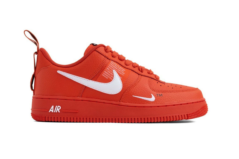 "f5c82a9581640 Nike Air Force 1 07 LV8 Utility Gets Dipped in ""Team Orange"""