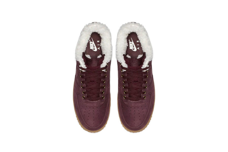 nike air force 1 premium winter burgundy crush gum light brown 2018 november footwear nike sportswear