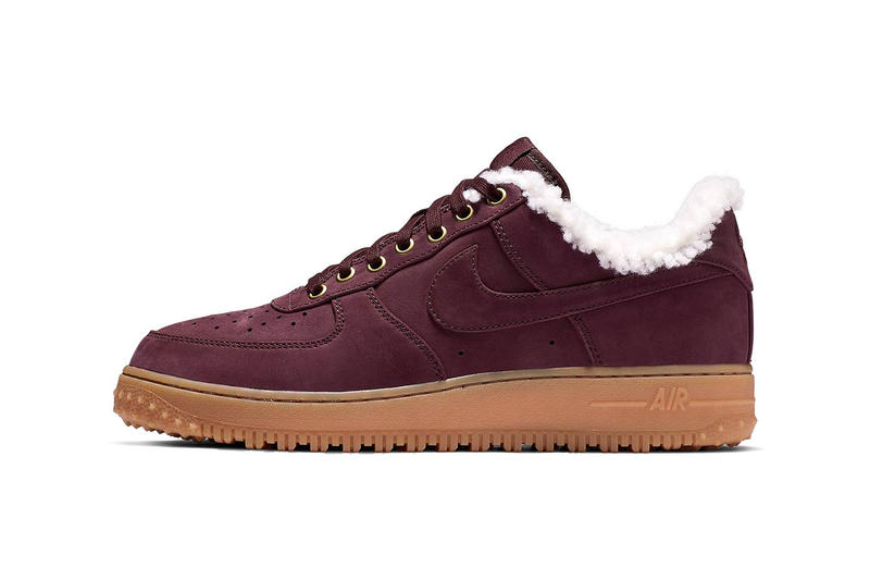 new arrival e3cb3 20407 nike air force 1 burgundy crush sherpa lined footwear shoes winter